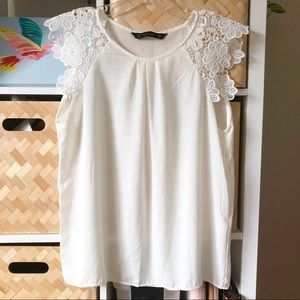 Lace Sleeve Zara Blouse